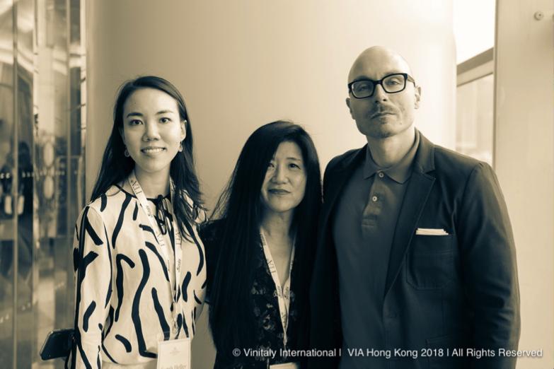 VIA Faculty Sarah Heller MW (left) with Stevie Kim (center) and VIA Faculty Henry Davar (right)